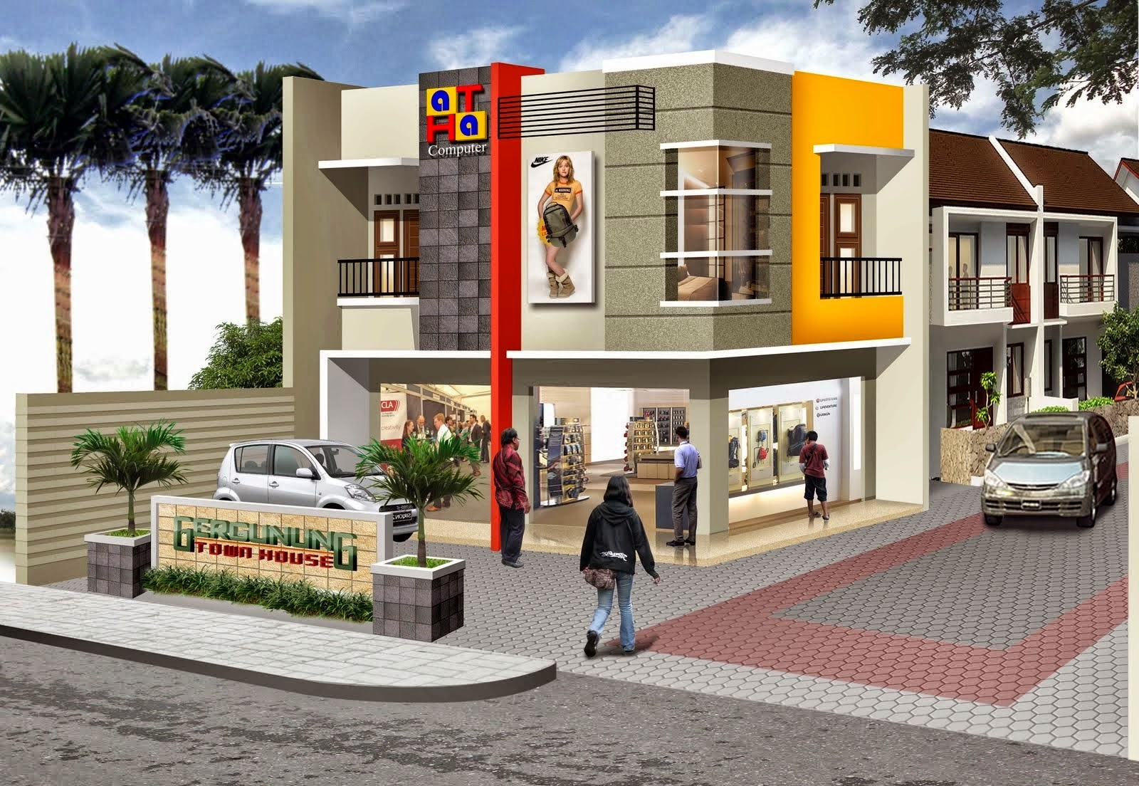 The 2 storey shophouse image design nyoke house design for 2 story commercial building plans