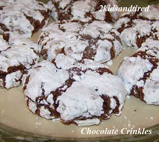 Chocolate Crinkles  from 2 Kids and Tired Cooks