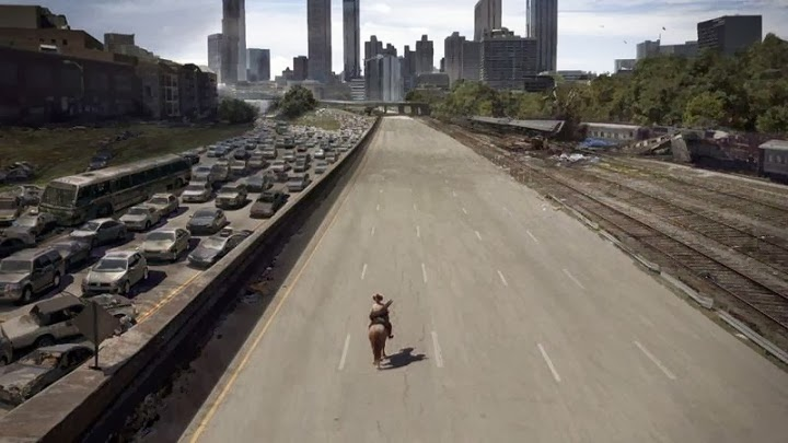 The Walking Dead special effects before and after 2 2