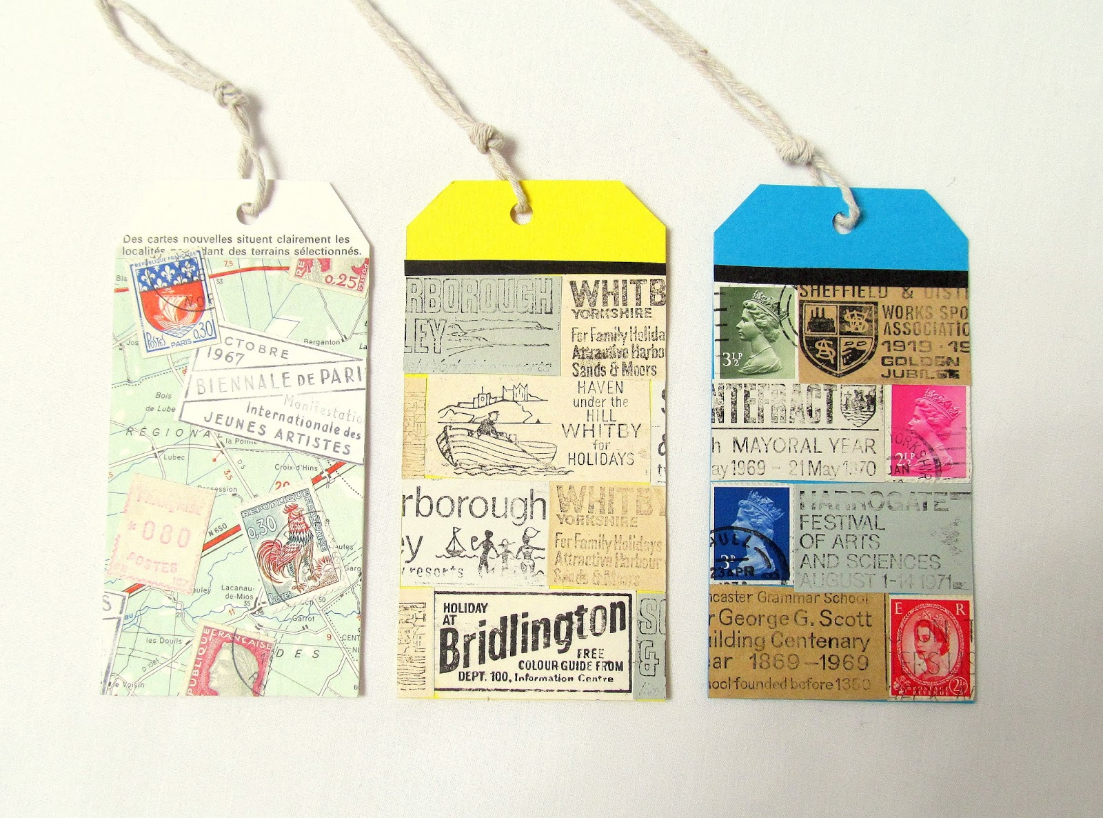 unique home decor - upcycled tags