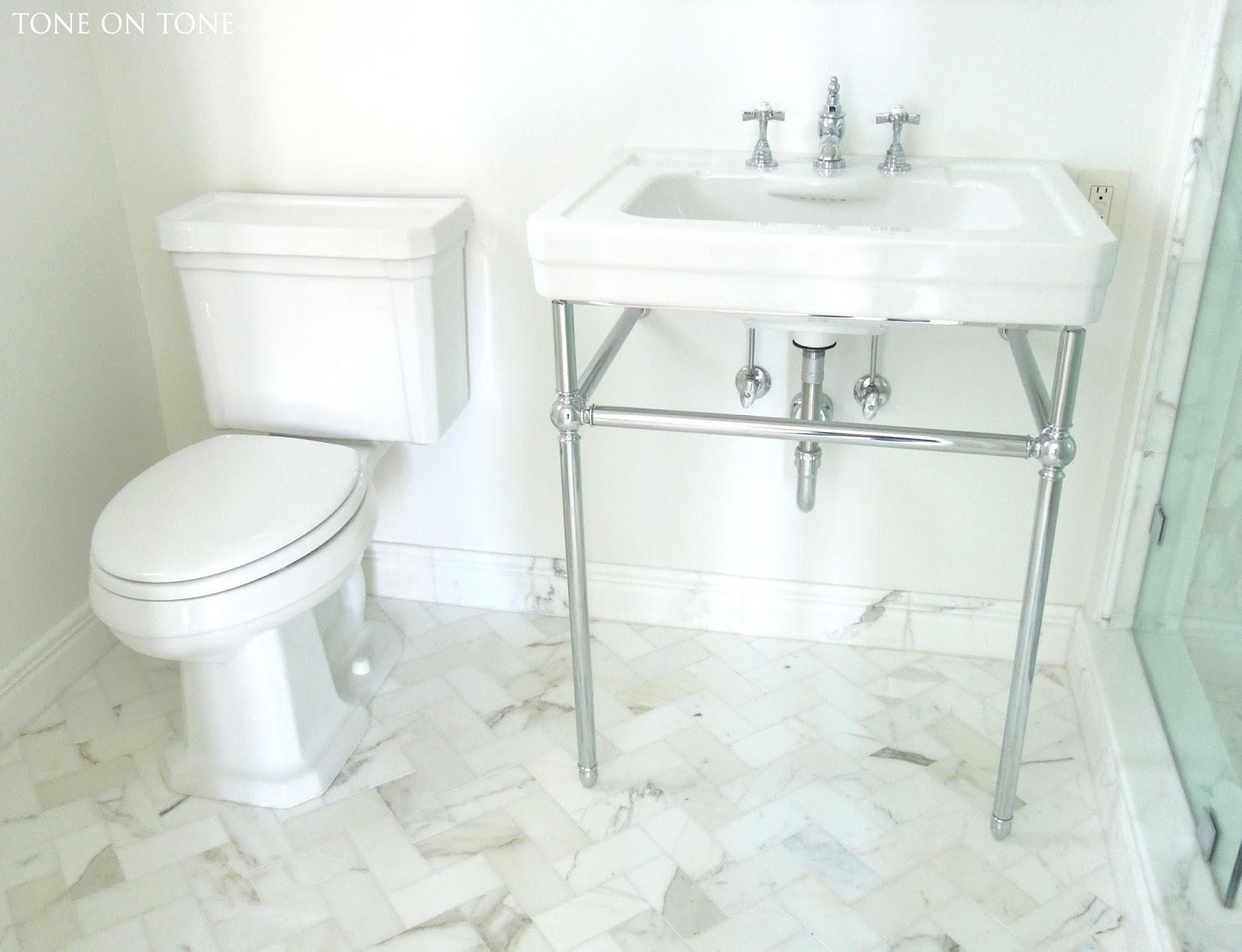 Tone on Tone: Small Bathroom Renovation