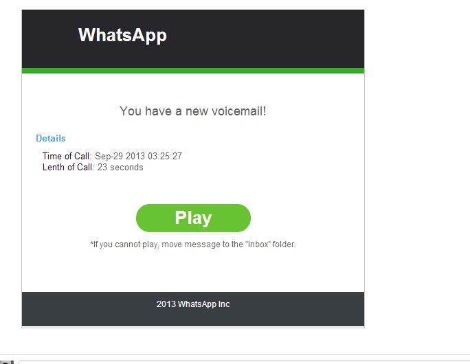 Au sujet de l'email «New Voicemail Notification – WhatsApp», A Unix Mind In A Windows World