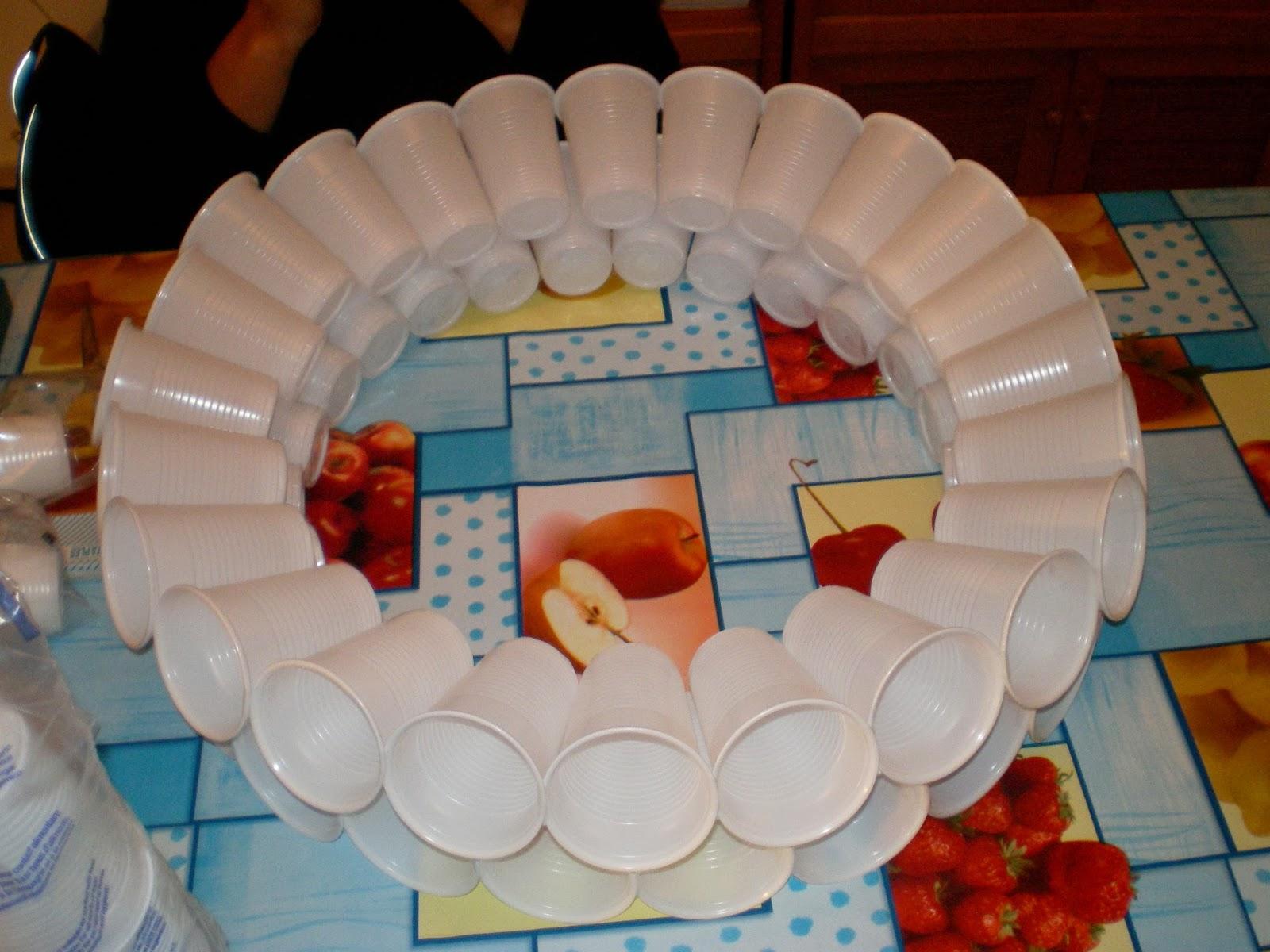 La Bombilla De Las Ideas Muñeco De Nieve Con Vasos De Plastico