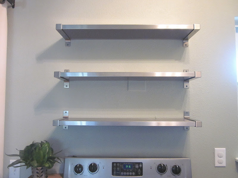 Stainless Steel Kitchen Wall Shelves