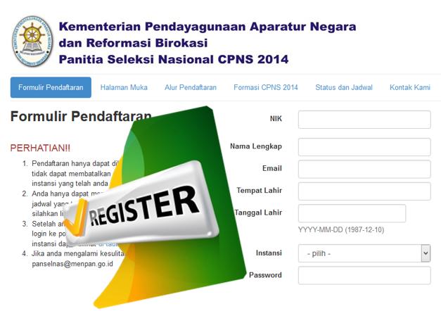 Pendaftar CPNS Tembus 829000 Pendaftar