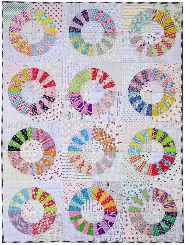 Scrappy Color Wheel Quilt | Red Pepper Quilts | Foundation Paper Piecing Pattern and Templates available.