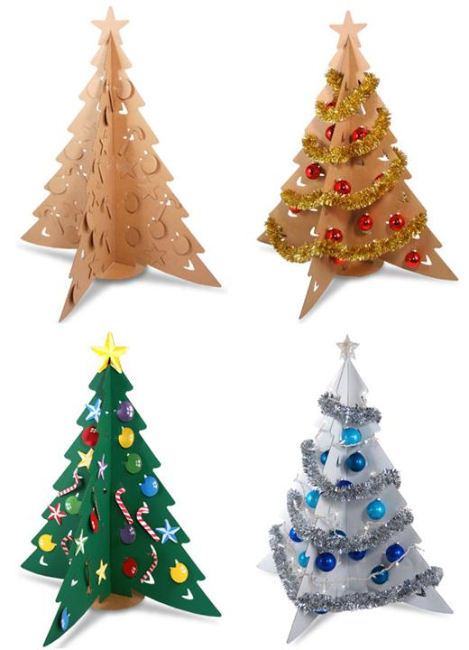Modern and creative christmas tree design ideas home for Modern xmas tree ideas
