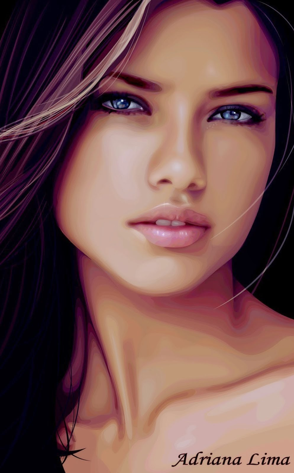 ADRIANA LIMA PORTRAIT CLOSE UP