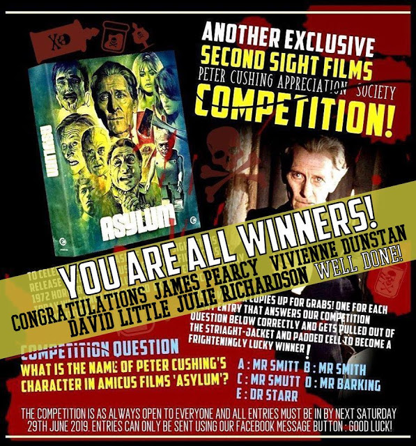 WINNERS OF SECOND SIGHT 'ASYLUM' BLU RAY COMP