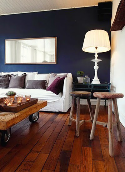 Decor me Happy by Elle Uy Navy Blue Walls for Living  Dining