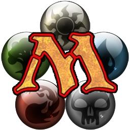 Logo del juego Magic: The Gathering con los cinco símbolos de mana