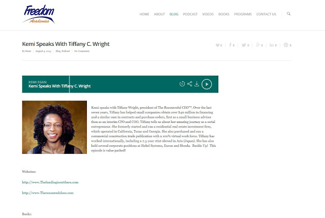 Kemi Egan speaks with Tiffany C. Wright