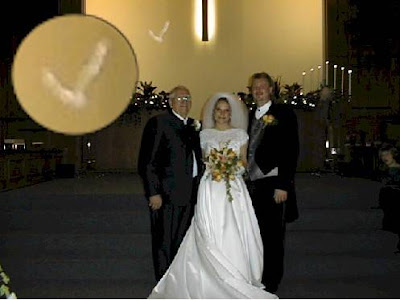 Real Ghost Photo: Wedding Dove