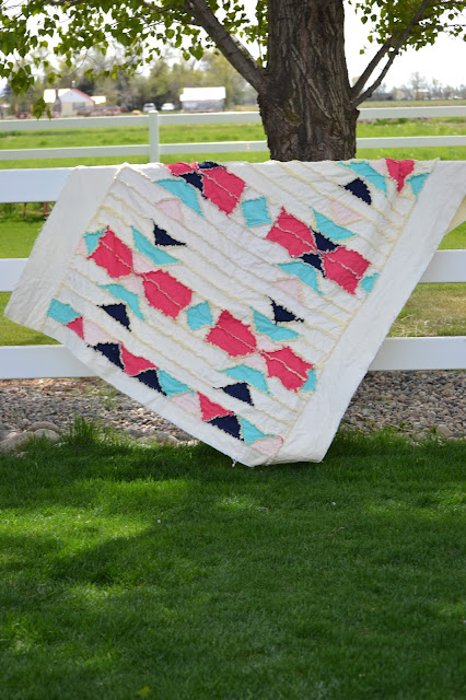 Aztec Rag Quilt Pattern by A Vision to Remember