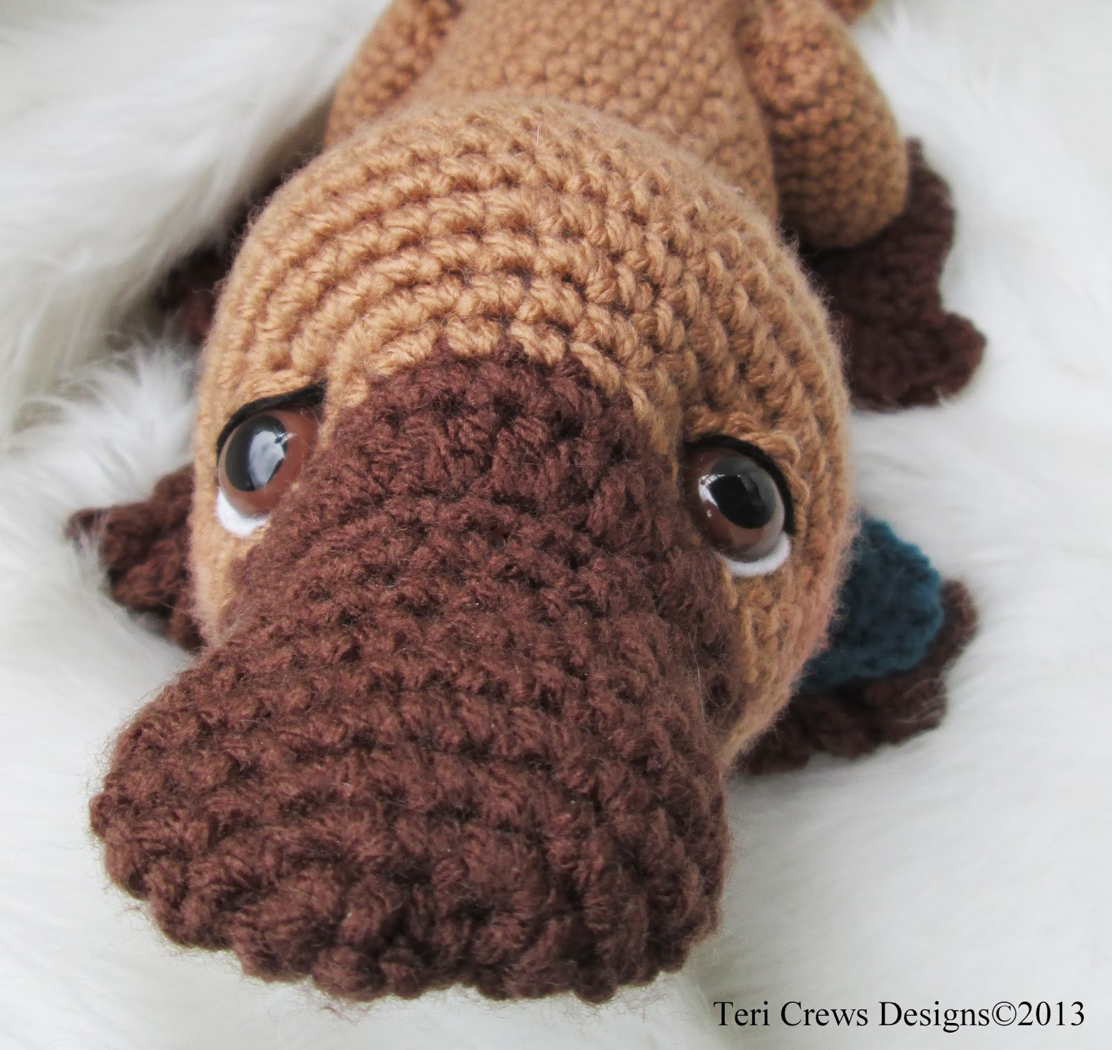 Teris Blog: New Simply Cute Platypus Crochet Pattern