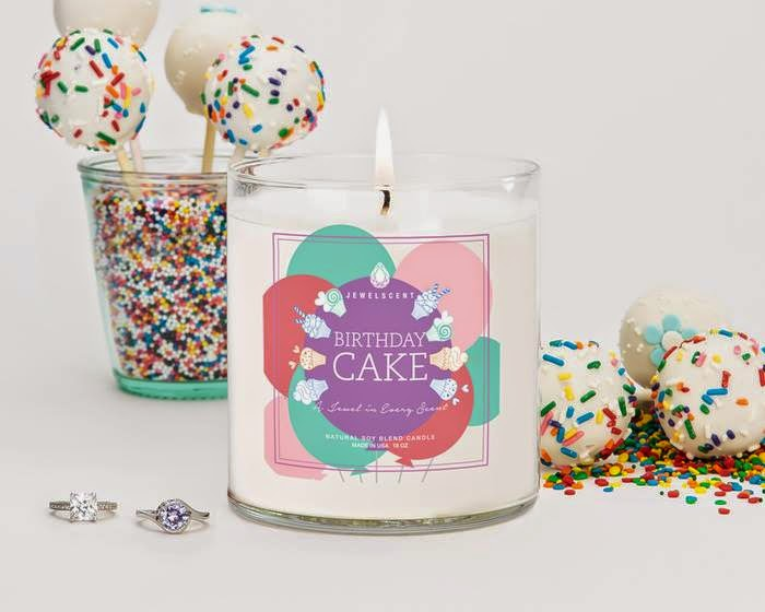 Jewelscent Birthday Cake Candle