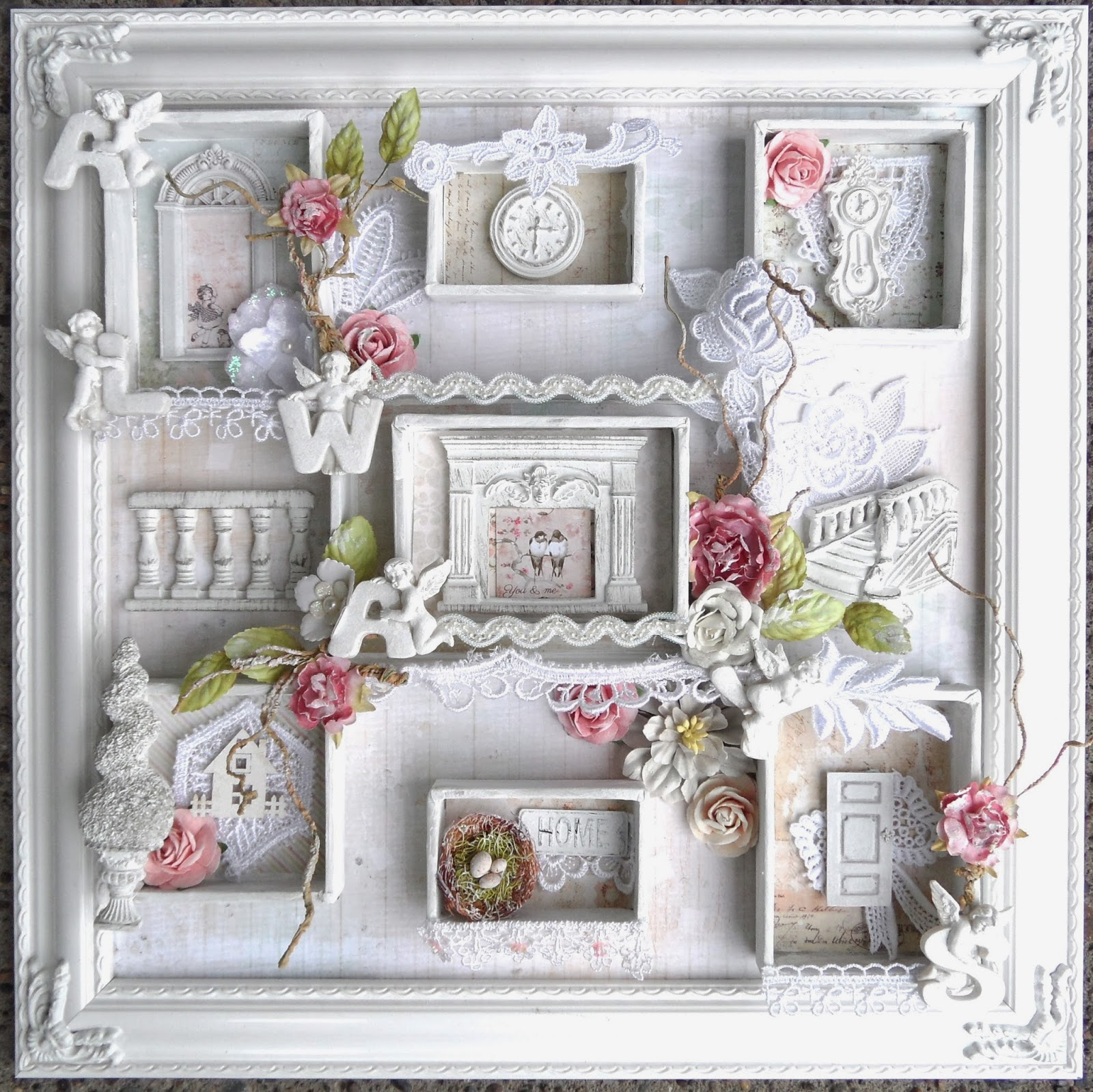 shabbychicjcouture shabby chic frame shadow box prima. Black Bedroom Furniture Sets. Home Design Ideas