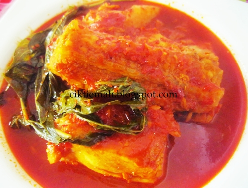 Resepi masakan Asam Pedas Ikan Pari