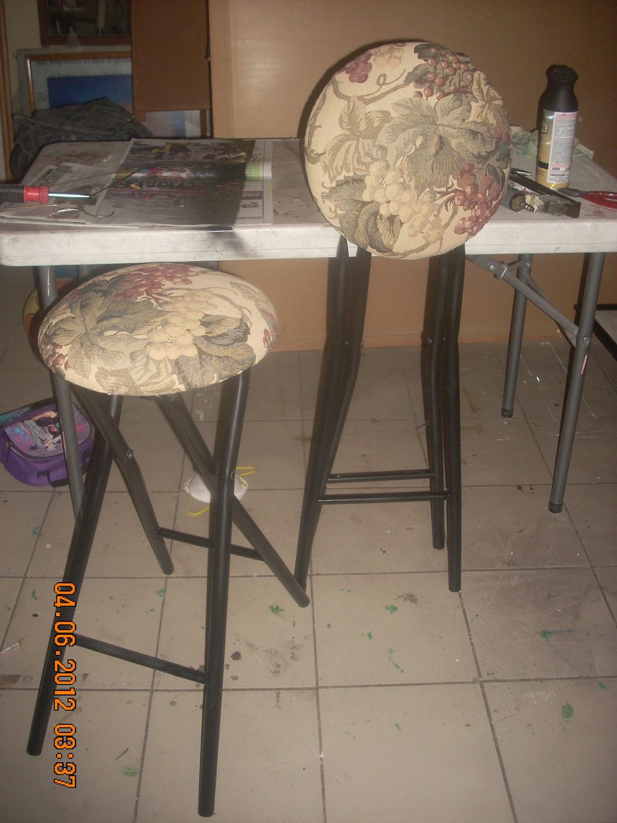 Mis creaciones e ideas bancos para barra - Esponja para tapizar ...