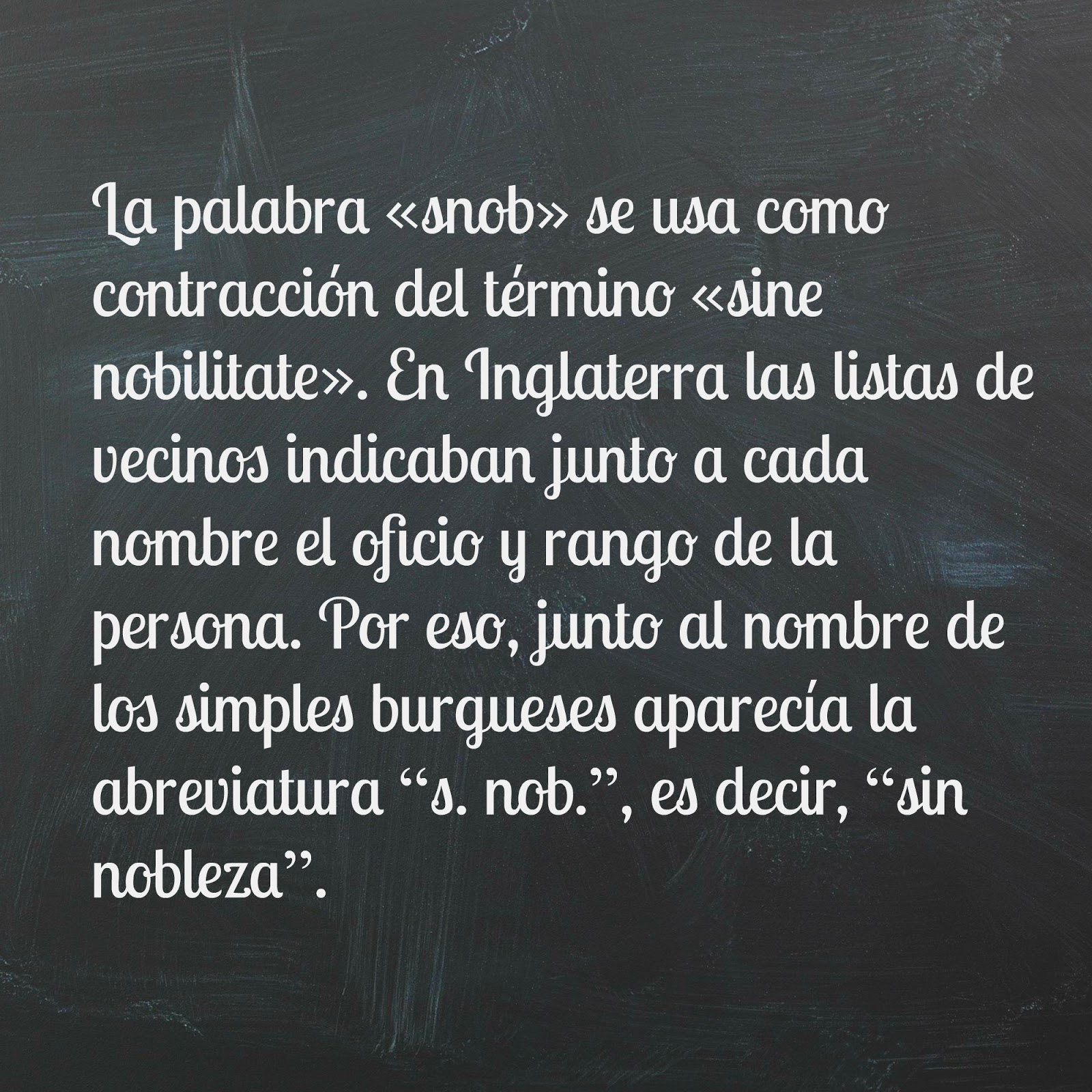 """Etimología de la palabra """"snob"""" según Ortega y Gasset"""