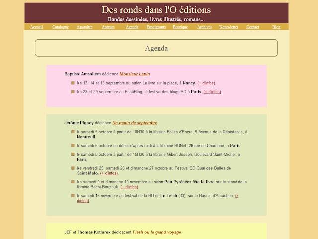 Prochaines dédicaces - Editions Des ronds dans l'O