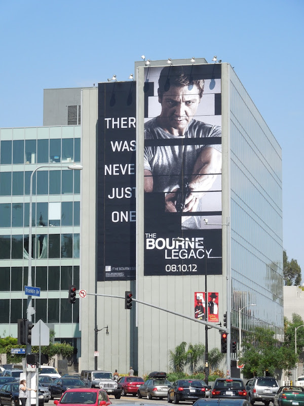 Giant Bourne Legacy movie billboard
