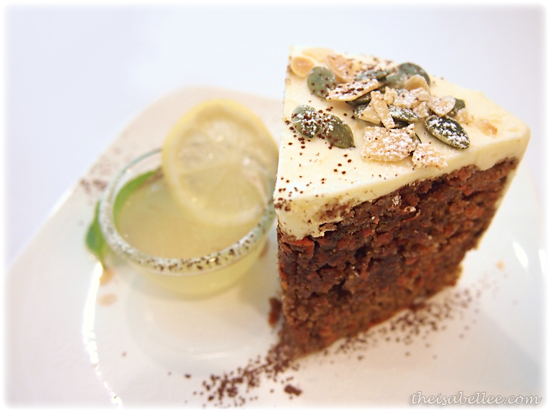 Carrot cake at Signature Cafearo