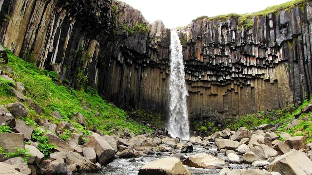 Svartifoss Waterfall Island HD Wallpaper