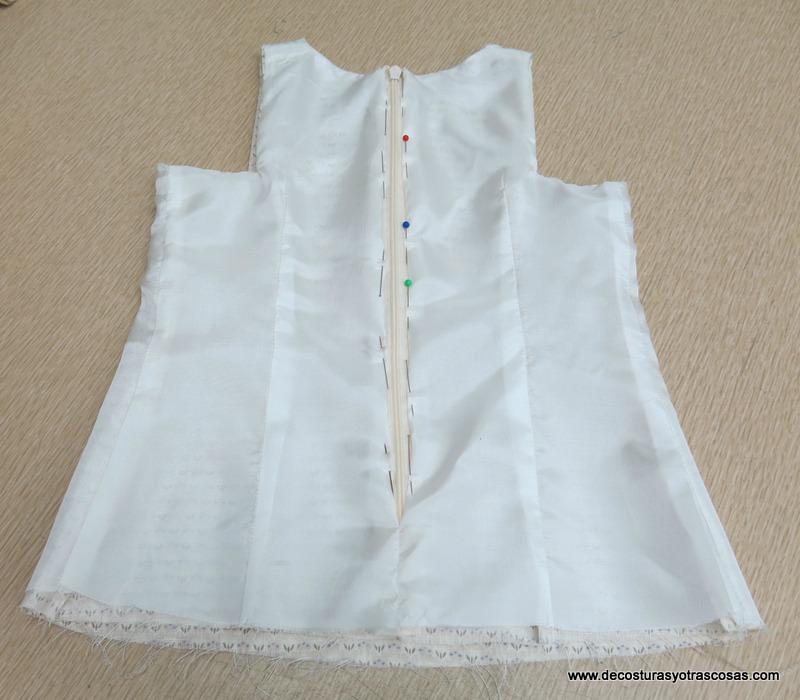 como se forra un vestido de niña