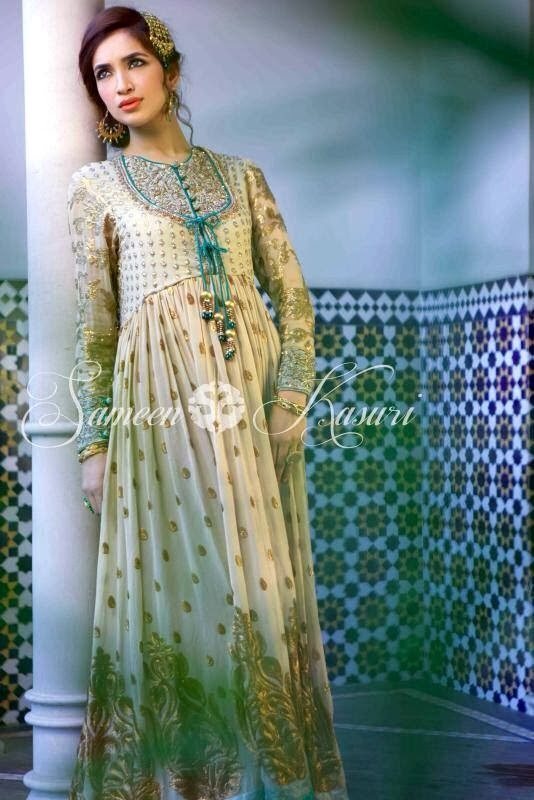 SameenKasuriSemiFormalCollection2014 15 wwwfashionhuntworldblogspotcom 002 - Formal & Semi Formal Wear Dresses By Smeen Kasuri