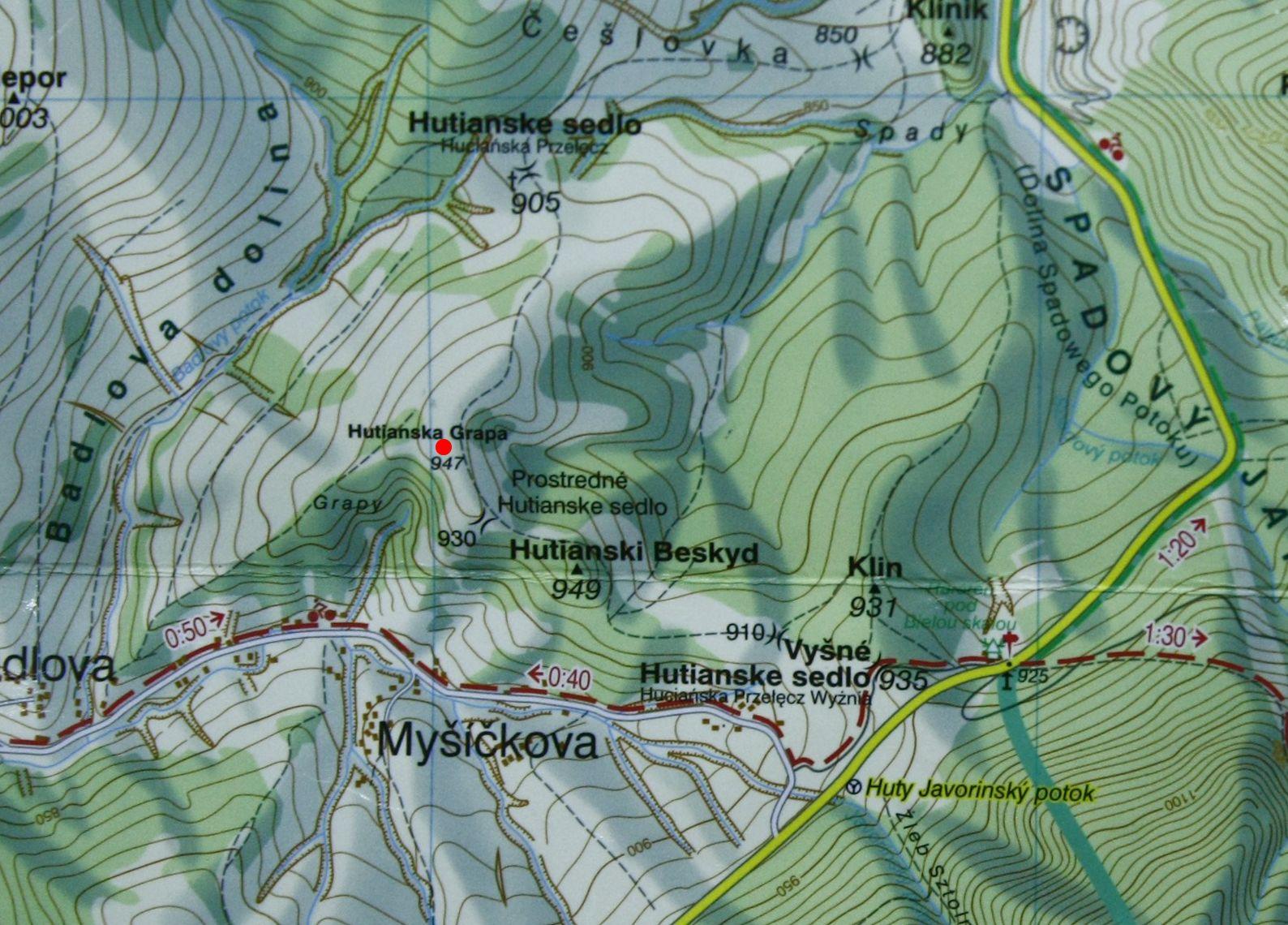 Huciańska Grapa na mapie