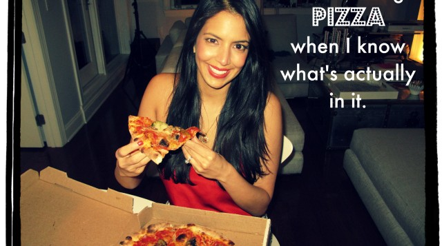 Vani Hari eats Pizza