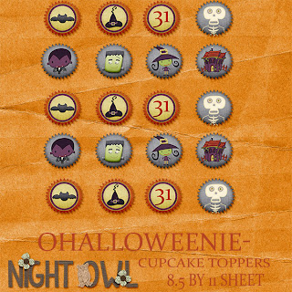 almost Halloween and cupcake toppers!