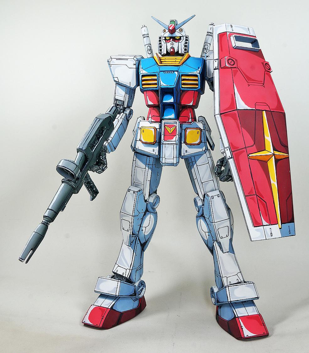 RX-78 T Mega Size 1/48 RX-78-2 Gundam 'Anime Colors' - Painted Build