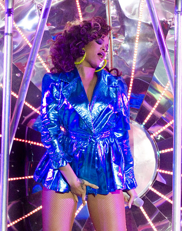 Rihanna Performs at O2 Arena in London