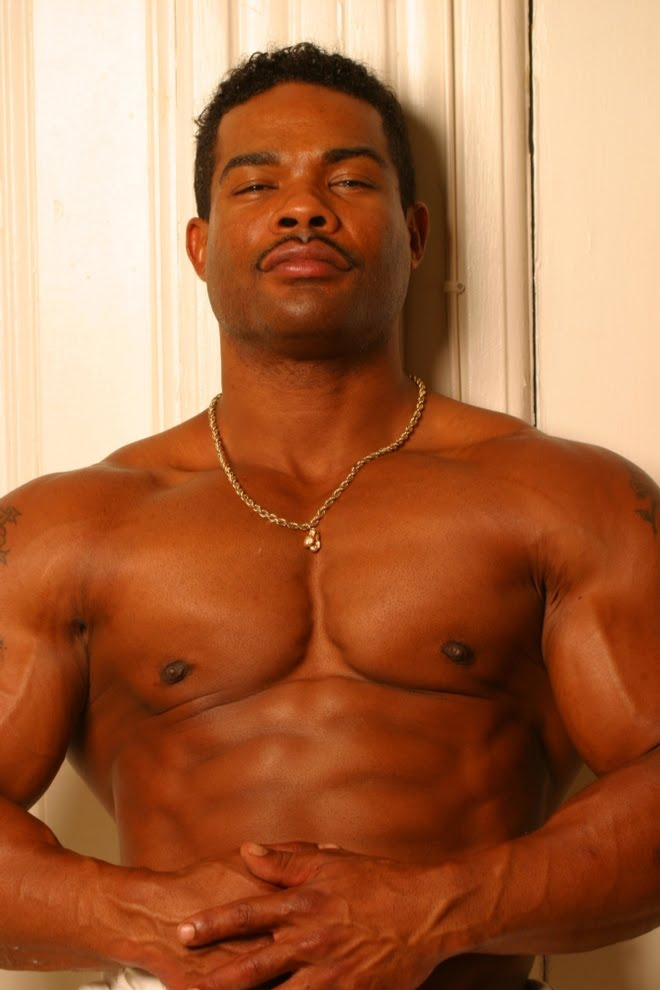 Hot black muscle men