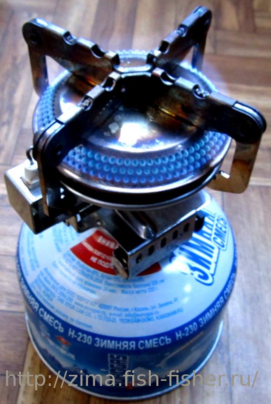 Газовая горелка для рыбалки. Удобная вещь для приготовления пищи на льду