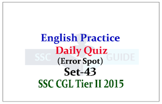 Practice English Questions (Error Spot) for SSC  CGL Exams