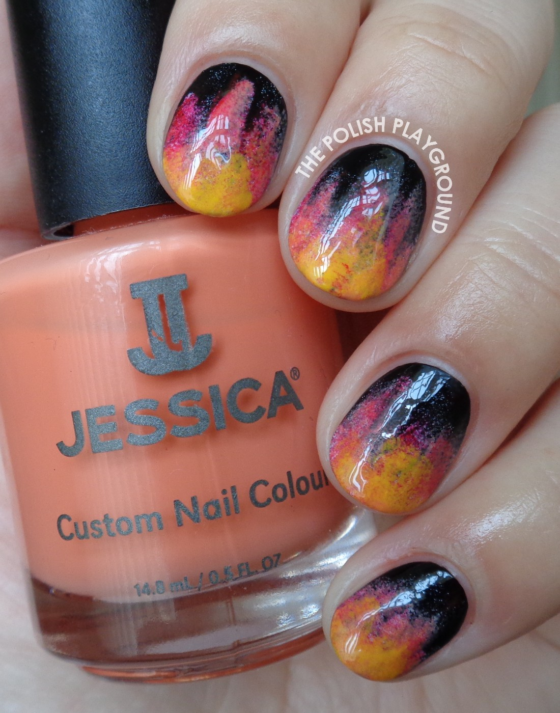 The Hunger Games Fire Inspired Nail Art