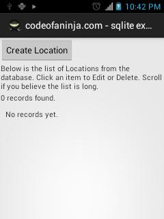 Android SQLite Tutorial