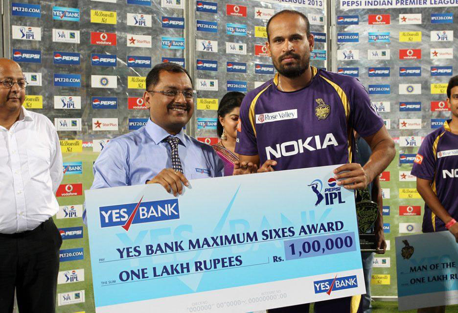 Yusuf-Pathan-Maximum-Sixes-KKR-vs-RCB-IPL-2013