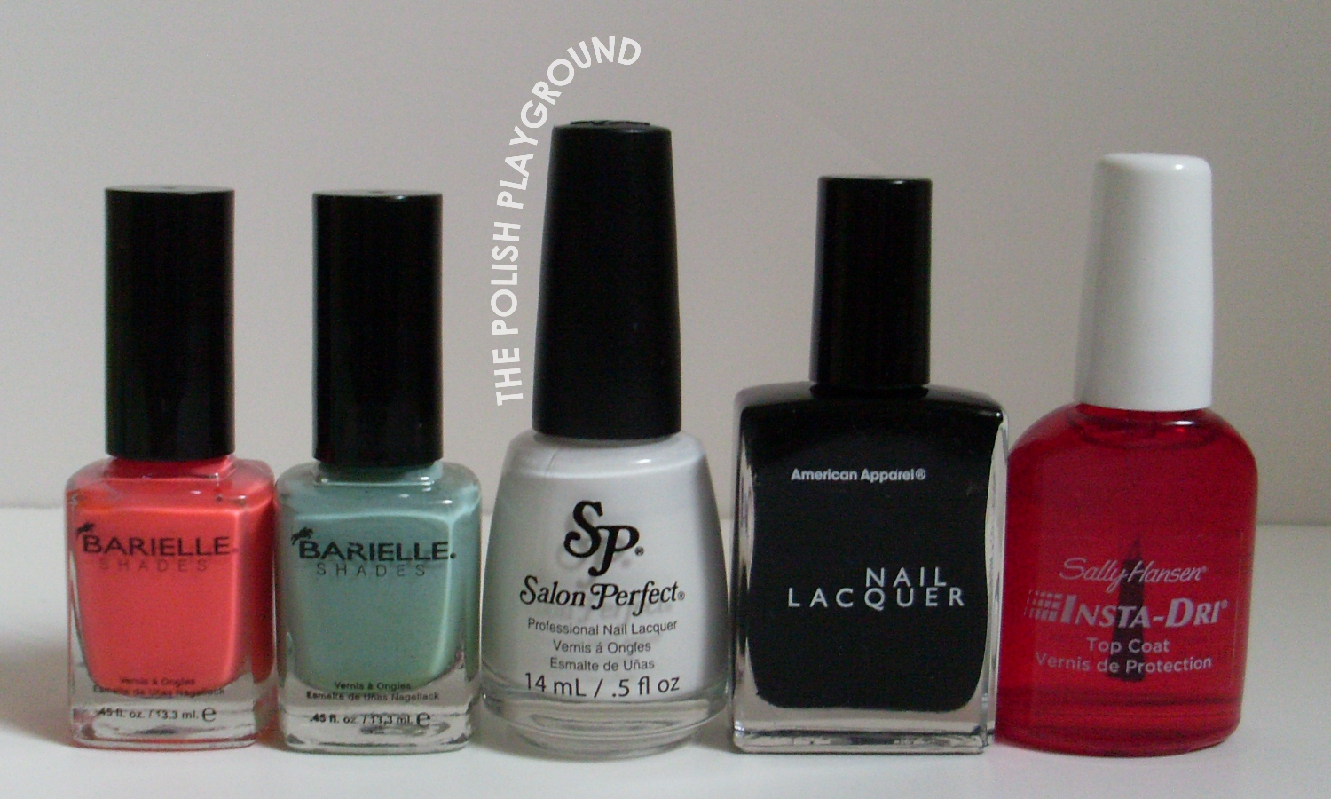 Barielle, Salon Perfect, American Apparel, Sally Hansen