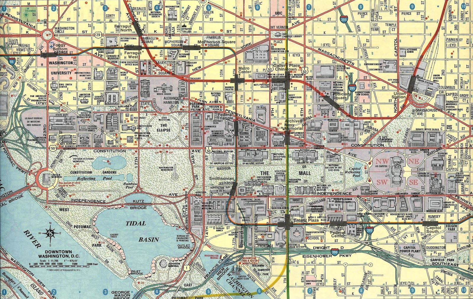 Conroy and the man the ultimate map an adc road map of washington dc gumiabroncs Choice Image