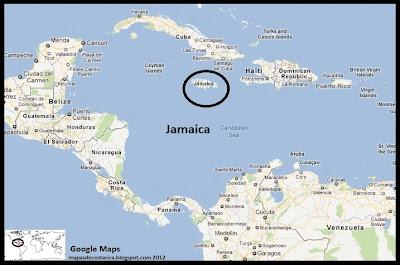 Mapa de Jamaica en Centroamérica y El caribe, Google Maps
