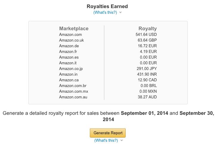 amazon book sales