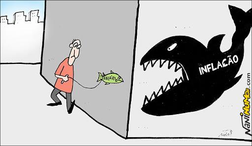 inflação alta e o salário