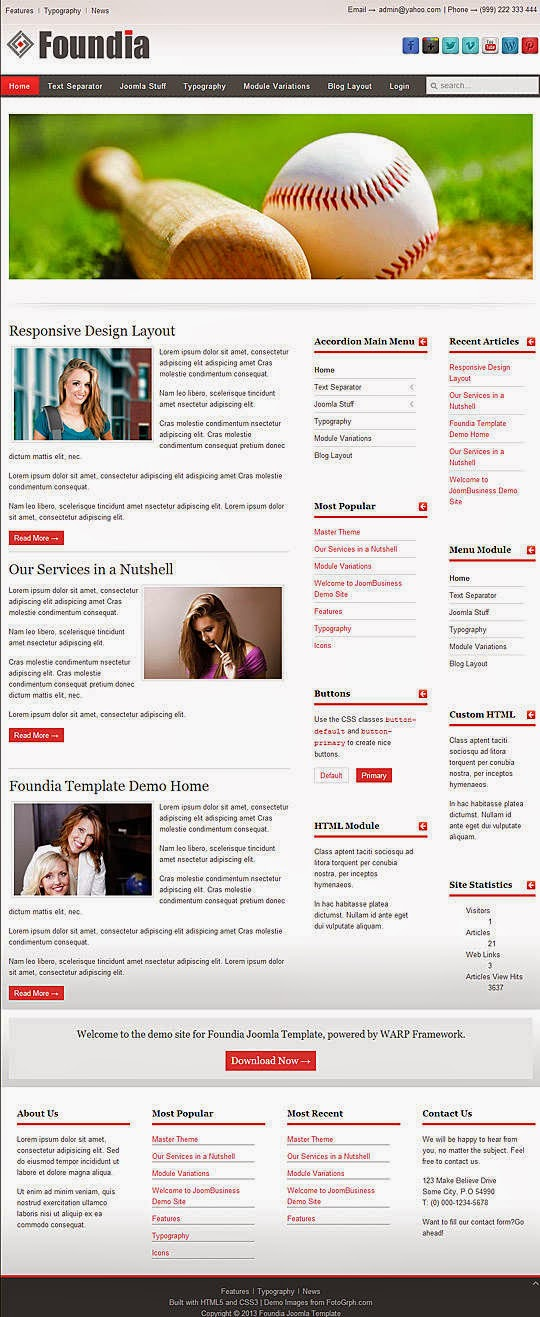 Download free joomla template - foundia
