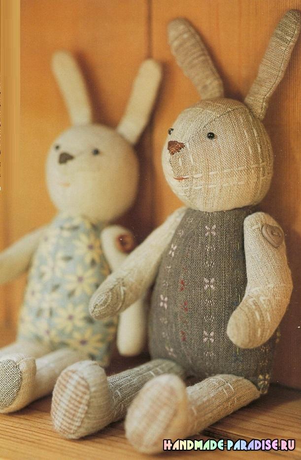 Как сшить текстильного кролика