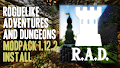 HOW TO INSTALL<br>Roguelike Adventures and Dungeons Modpack [<b>1.12.2</b>]<br>▽