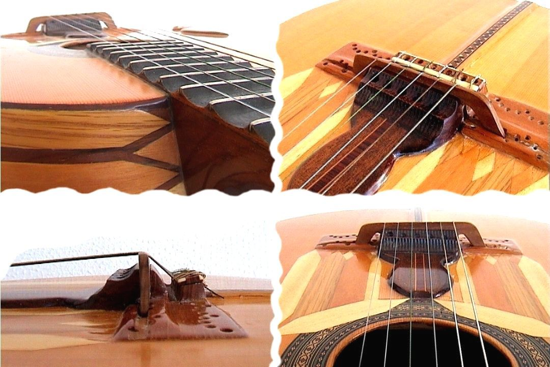 Kertsopoulos scalloped guitar details